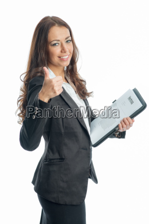 businesswoman, with, documents - 11822937