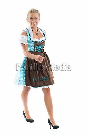 woman in dirndl dress