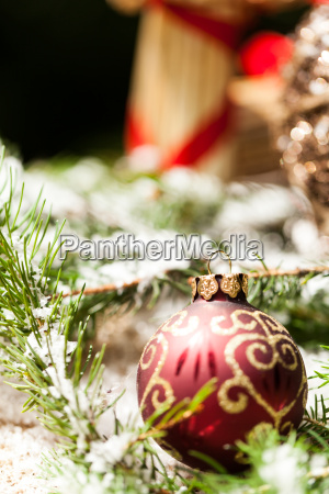 decoration for christmas with red and