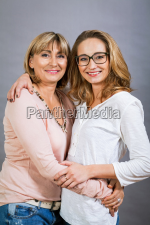 attractive adult female mother with teenage