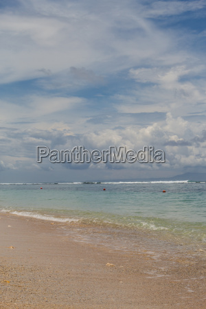 beautiful lonely sand beach in the