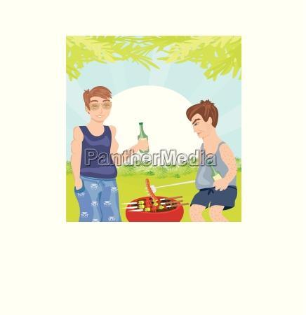 two men barbecuing funny barbecue