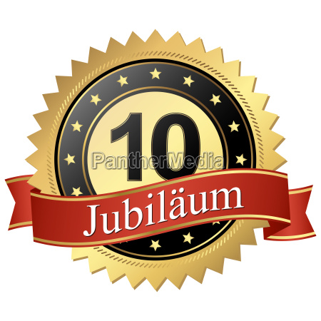 jubilee button with banners anniversary