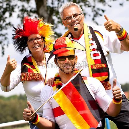 jubilant football fans germany