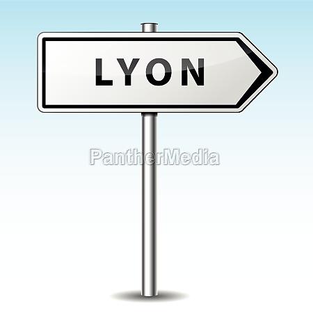 vector lyon directional sign