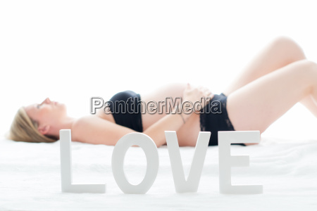 pregnant woman in the supine position
