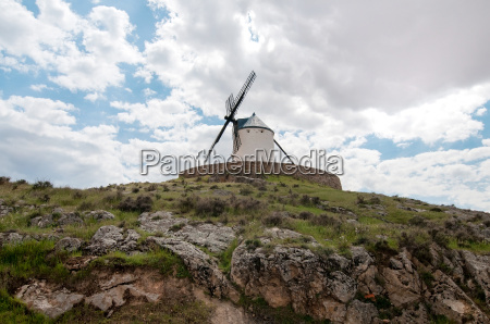 old windmill on the hill