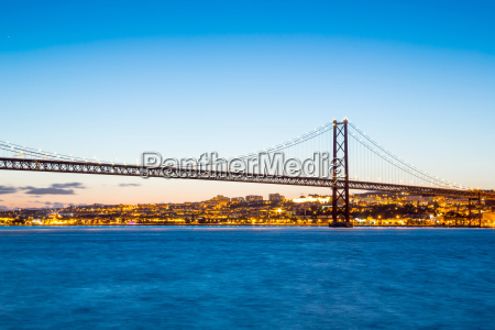 lisbon april bridge portugal