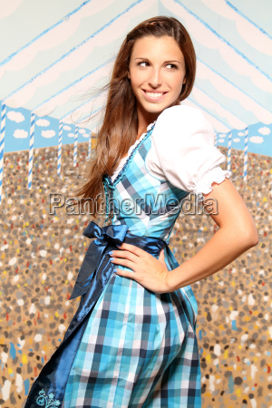 woman with dirndl