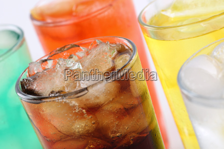 colorful drinks with cola