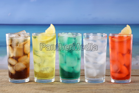 cola and lemonade drinks on the
