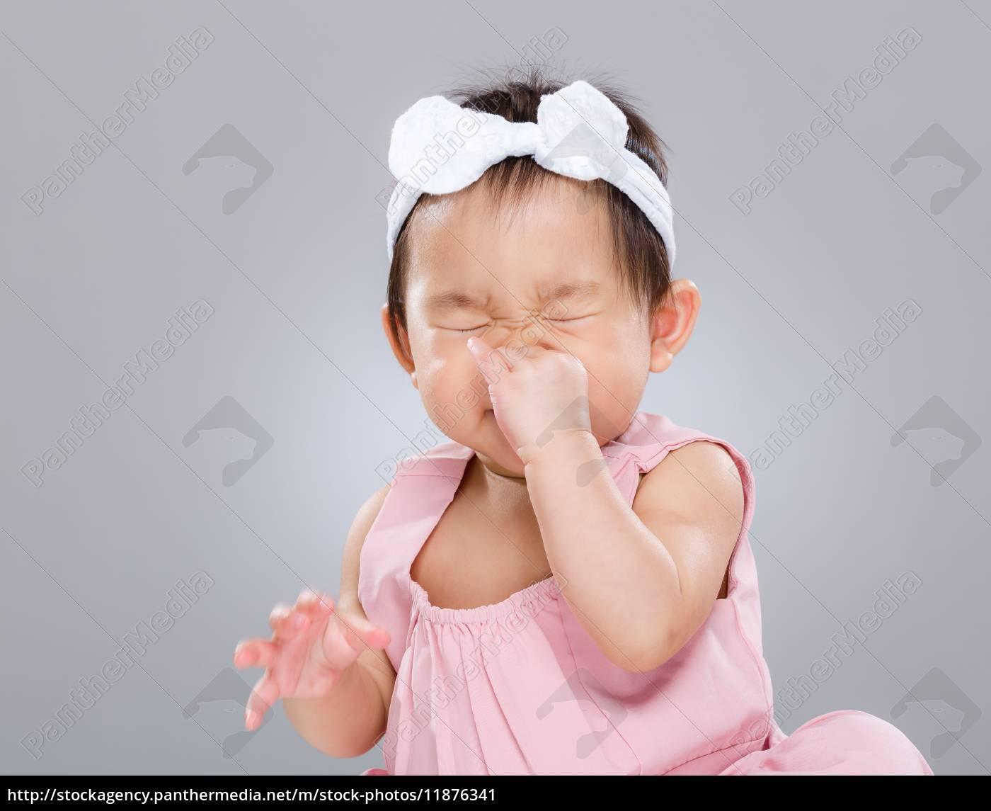 baby, girl, sneeze - 11876341