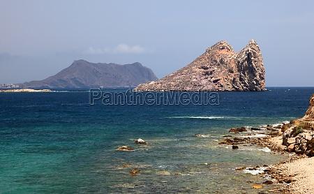 mediterranean coast near aguilas province of