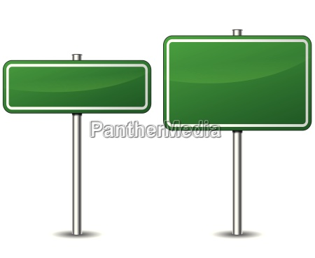 vector green road sign