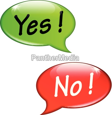 yes and no speech bubbles