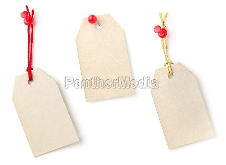 three pendants of cardboard
