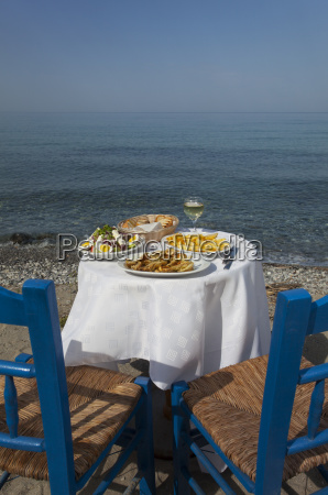 greek food and the sea