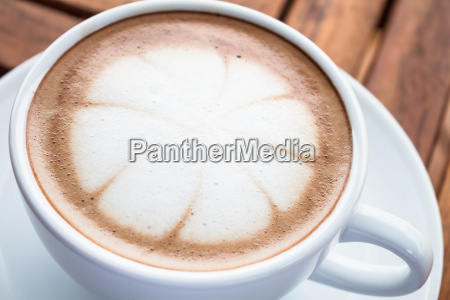 hot cafe mocha cup with milk