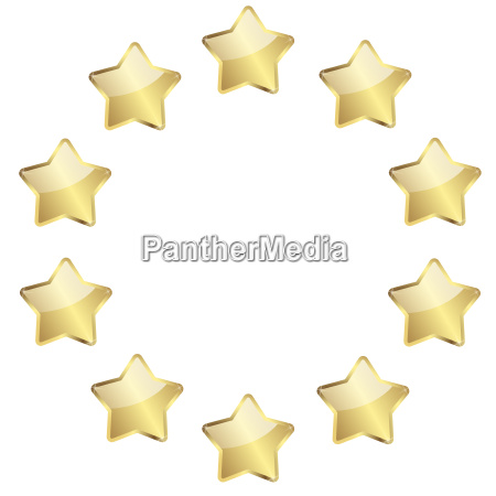 golden stars in a circle