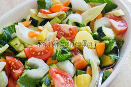 baking dish casserole fennel fresh vegetables