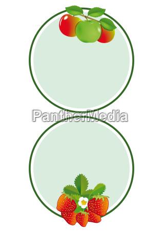 apple strawberry label