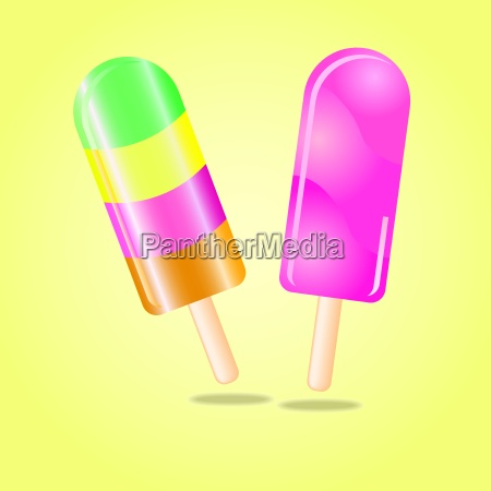 multi flavored ice cream bar on