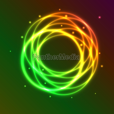 abstract background with colorful plasma circle