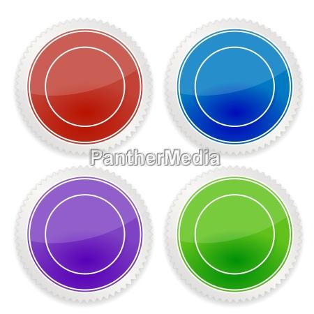 set of blank circle label
