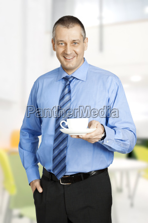 business man coffee