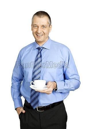 business man coffee break