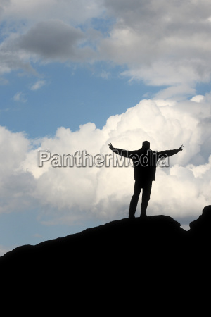 silhouette of a man in front