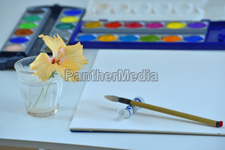 hobby watercolor painting