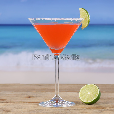 red cocktail martini drink on the