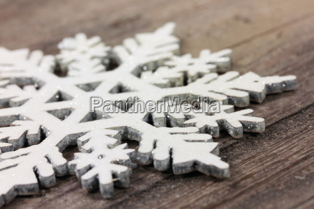 snowflake on wood