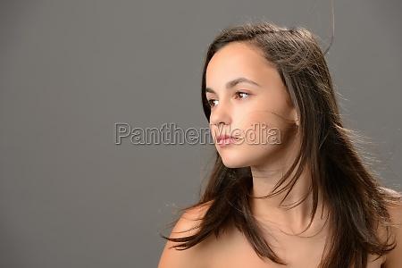 teenage girl hair beauty skin looking
