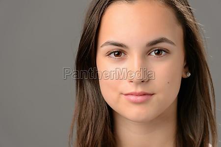 teenage girl beauty face cosmetics close