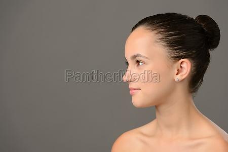 teenage girl skin care cosmetics looking