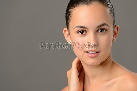 teenage girl face cosmetics skin care