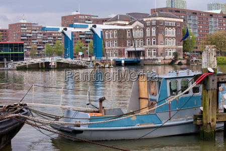 city of rotterdam urban scenery