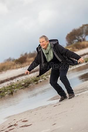 happy active senior woman retired senior
