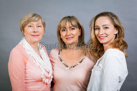 three generations grandmother mother and daughter
