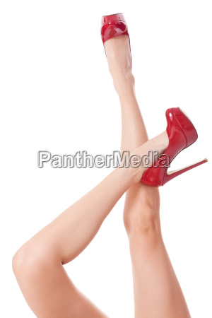 sexy long legs of an attractive