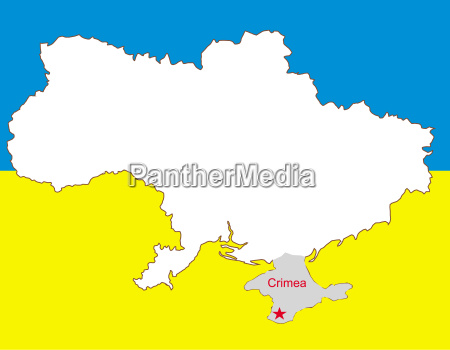ukraine vector map with the crimea