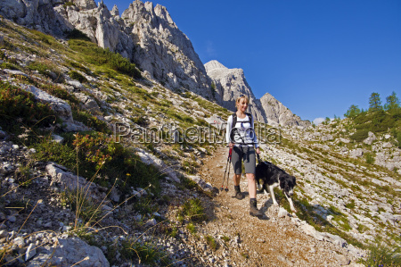 hiking, with, dog - 11953593