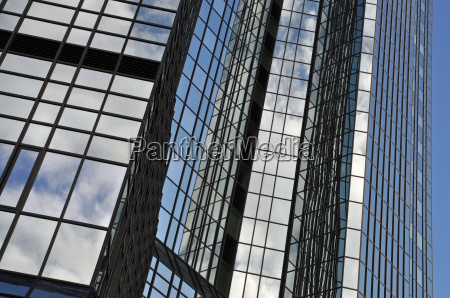 glass facade in frankfurt