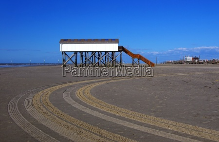 stilt construction on the north sea
