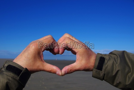 a heart for the westerhever lighthouse