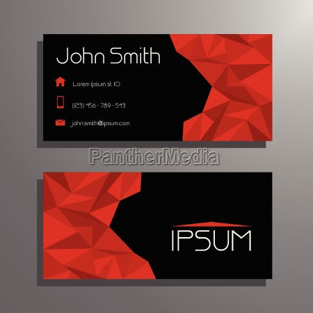 red and black modern business card