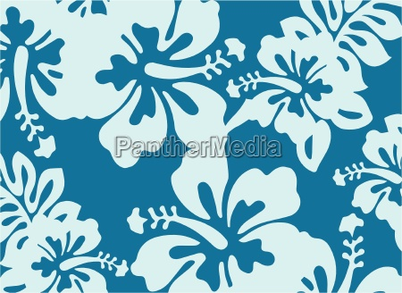 light blue decorative floral pattern