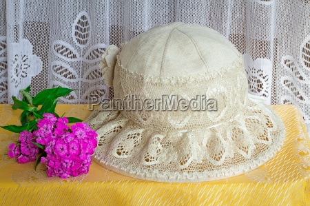 female summer hat for protection against